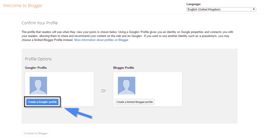 Create a Google + Profile