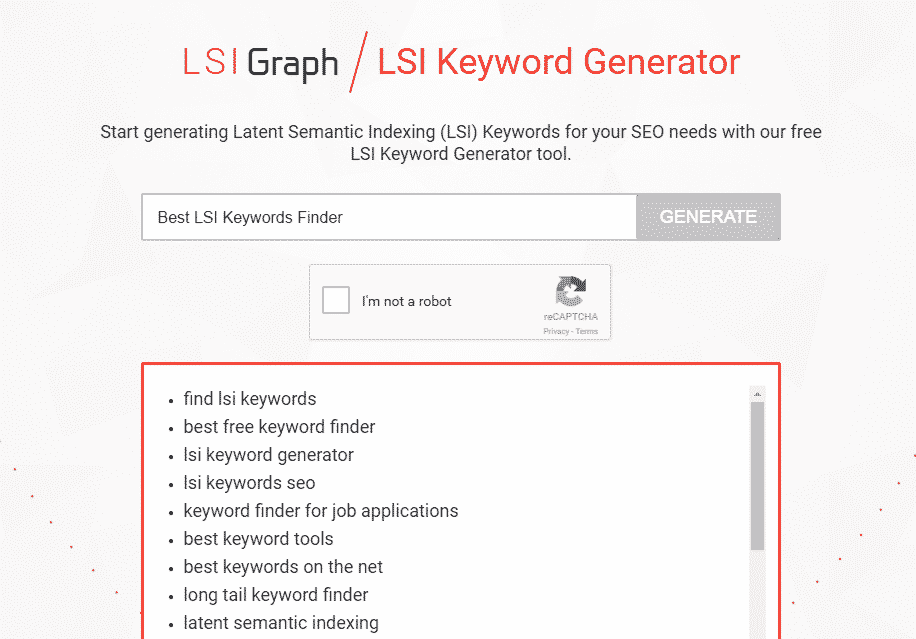 How to use LSI Graph