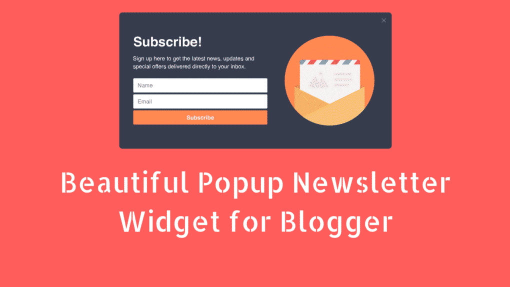 Newsletter Widget for Blogger