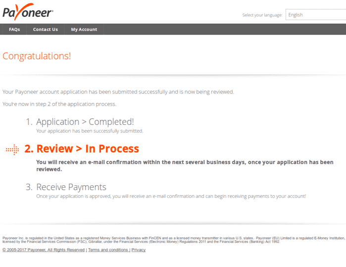 Payoneer Application Review