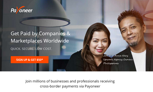 Payoneer Sign Up and earn $50